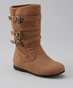 Take a look at this Camel Loretta Boot by One Step for Fashion: Girls' Boots on @zulily today!