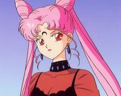 Imagem de sailor moon, anime, and pink Sailor Moons, Sailor Moon Crystal, Sailor Chibi Moon, Sailor Saturn, Sailor Moon Aesthetic, Aesthetic Anime, Old Anime, Anime Art, Vintage Anime