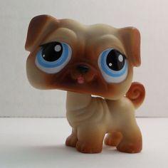 Littlest Pet Shop Pug #1312 brown tan dog loose
