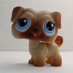 Littlest Pet Shop Pug #1312 brown tan dog loose