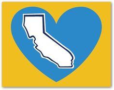U.C.L.A. Bruins California Heart Decal. $1.95, via Etsy.