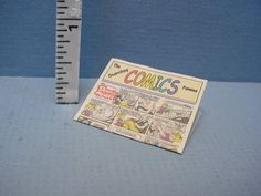 *hudson River Miniatures Dollhouse Miniature Sunday Comics