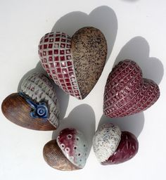A Medium Sized Fat Heart ,Stoneware Heart. Affordable Art.OOAK:. $35.00, via Etsy.