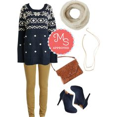 Forever and a Snow Day Sweater by modcloth on Polyvore featuring мода, cozy, modcloth, separates and winterstyle