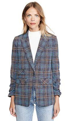 Veronica Beard Martel Dickey Jacket | SHOPBOP. #Fashion #Suit #Cotton #Linen #Tweed #Blue #SkyBlue #Plaid #OneButton Fashion Design Sketchbook, Fashion Design Drawings, Art Sketchbook, Missoni, Fashion Collage, Veronica Beard, Plaid Pattern, Designs To Draw, Tweed