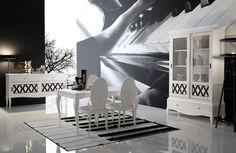 Clásico y moderno en un mobiliario perfecto. #comedor #decoración #muebles #diseño #style #estilo #hogar #home #Galicia #mueblebar Outdoor Furniture, Outdoor Decor, Sun Lounger, Opera House, Dining Table, Building, Home Decor, Madrid, Rustic Style