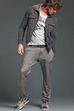 Marlon Teixeira is Ready for a Cool Gaudì Fall/Winter 2012 Brazilian Men, Brazilian Models, Marlon Texeira, Portrait Photography Lighting, Bohemian Men, Casual Wear For Men, Wilhelmina Models, Knit Pants, Sport Wear