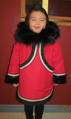 Inuit made parka w/ sealskin & fox fur trim by Lalena Flaherty