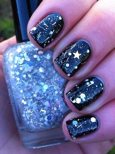 Holographic stars, I haven't had a polish like this since I was a kid