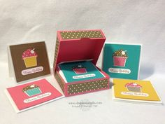 2014 cute box that holds  (8) 3 X 3 cards and lined envelopes.