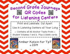 2nd Grade Journeys QR Codes for Listening Centers: ALL stories!