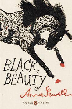 Black Beauty, Penguin's Thread Series, hand-sewn cover designed by Jillian Tamaki