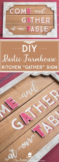 Despair In Youngsters - Realize To Get Rid Of It Wholly Diy Rustic Country Farmhouse Kitchen Gather Sign Diy Farmhouse Decor Diy Gather Sign Homemade Farmhouse Sign Farmhouse Kitchen Signs, Country Farmhouse Decor, Kitchen Country, Farmhouse Style, Cottage Farmhouse, Farmhouse Homes, French Farmhouse, Farmhouse Ideas, Kitchen Decor