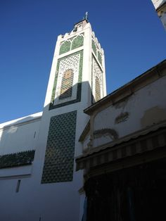 Exterior view of the minaret of Tangier's Great Mosque http://archnet.org/sites/6353