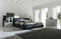 Glamorous Black Bed White Luxury Bedroom Idea