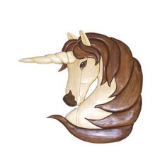 Female Unicorn Intarsia Pattern