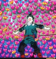My Hero Academia reaction image Boku No Hero Academia, My Hero Academia Memes, Hero Academia Characters, My Hero Academia Manga, Memes Lindos, Tamako Love Story, Heart Meme, Cute Love Memes, Anime Lindo