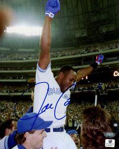 Joe Carter Autographed 8x10 World Series Photo - Sports Memorabilia