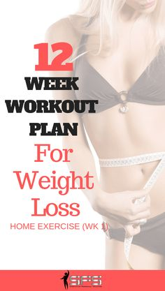 12 week weight loss workout plan with 12 individual workouts. 12 Week Workout Plan, Weight Loss Workout Plan, Weight Loss Plans, Weight Loss Program, Workout Plans, Diet Program, Post Workout, Home Exercise Program, Workout Programs
