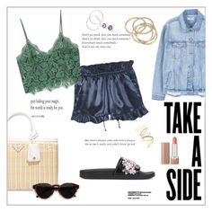 """""""Take a side"""" by frenchfriesblackmg ❤ liked on Polyvore featuring MANGO, Alberta Ferretti, Prada, Marc Jacobs, RetroSuperFuture, Sanders, Madewell, Melissa Odabash and ABS by Allen Schwartz"""
