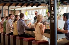 Det nye AIDAmar sushi bar on board