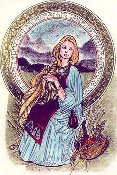 Sif, Norse Goddess, wife of Thor Norse Goddess, Celtic Mythology, Goddess Art, Thor, Loki, Viking Culture, Old Norse, Norse Vikings, Sacred Feminine