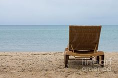 Don't you just want to set in this lounge chair on the beach at Mackinaw City, Michigan. Images copyright Timeless Moments Photography / Jennifer White. #Beach #Michigan #LakeHuron