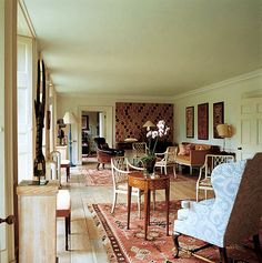 England meets Sweden in this English country house by Chester Jones.