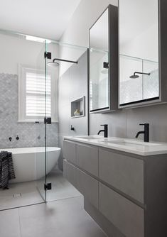 Gallery Of Malvern East Home By Smarter Bathrooms Local Design And Interiors Malvern East Vic Image 1 - May 18 2019 at Bad Inspiration, Bathroom Inspiration, Bathroom Ideas, Bathroom Designs, Bathroom Styling, Bathroom Interior Design, Bathroom Storage, Modern Bathroom, Master Bathroom