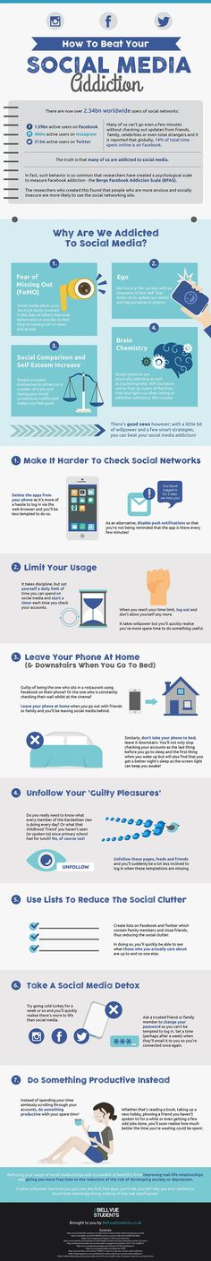 Here's How To Stop Your Social Media Addiction (infographic)