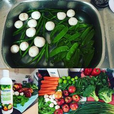 Market run done and produce washed. Took me less than 30 mins to wash everything with #norwex #norwexproducewash by kay8e