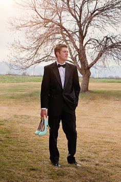 Waiting for his date