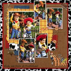 scrapbook layouts of toystory woody   made the layout into a template for you. Here is template freebie ...