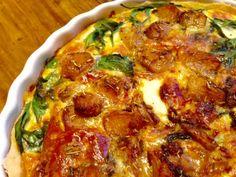 Garlic, Spinach, and Cheddar Tart