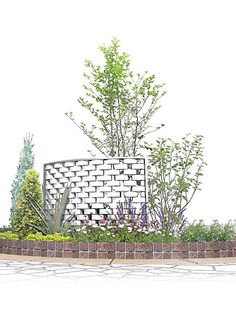 カジュアルな洋風の庭03