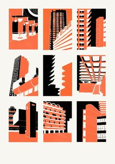 New Screen Printing Artist Illustrations Ideas Screen Print Poster, Poster Prints, Linocut Prints, Architecture Artists, Architecture Posters, Architecture Illustrations, Architecture Panel, Posca Art, A Level Art