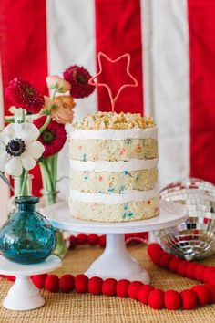 The cake at this July 4th party will blow you away! See more party ideas and share yours at CatchMyParty.com