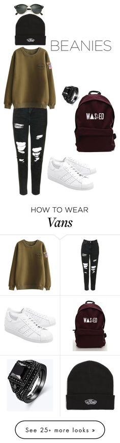 """Untitled #87"" by best22 on Polyvore featuring Topshop, Vans, Ray-Ban and adidas Originals"