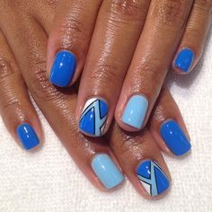 Geometric Accent Nails #nailart #gelnails #prestogel...