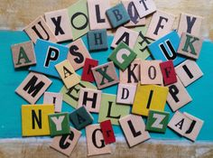 2 Dozen Assorted Vintage and Antique Anagram Letter by ZoeAmaris
