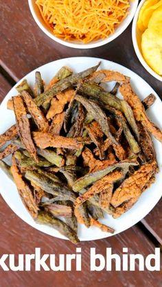 kurkuri bhindi recipe, crispy bhindi, bhindi kurkuri, karari bhindi with step by step photo/video. crispy ladies finger fry recipe with tender okra's. Okra Recipes, Spicy Recipes, Vegetarian Recipes, Cooking Recipes, Healthy Recipes, Chaat Recipe, Burfi Recipe, Indian Dessert Recipes, Indian Snacks