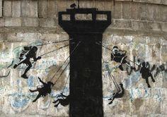 Street Art by Banksy in Gaza, Palestine 3