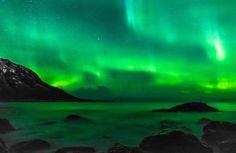 Mountain, Northern Lights, Sky, Three #mountain, #northernlights, #sky, #three
