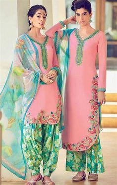 Appealing Pink Cotton Salwar Kameez