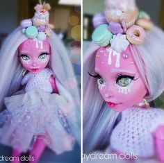 "Mia's Daydream custom Gooliope Monster High 17"" doll"