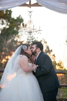 #CurvyBride Kasey in #Amare by Casablanca. Featured in BridalPulse - Timeless Hollywood Glamour Wedding in Dripping Springs, TX | Photo by George Street Photography |
