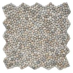 Solistone Micro Pebbles 10-Pack Playa Beige Pebble Mosaic Floor And Wall Tile (Common: 12-In X 12-In; Actual: 12-In X 12