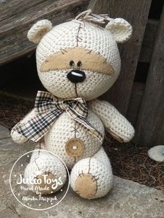 Crochet bear. Teddy bear like a Fizzy Moon. Crochet PDF pattern.     This is a crochet pattern PDF - NOT the actual finished doll at the...