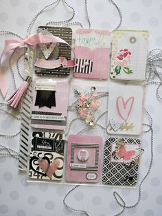 Pink, Black and White Pocket Letter Pocket Pal, Pocket Cards, Scrapbook Paper Crafts, Scrapbook Pages, Snail Mail Pen Pals, Journaling, Pocket Letters, Project Life Cards, Pocket Scrapbooking