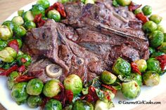 Gourmet Girl Cooks: Easy Grilled Lamb Shoulder Chops w/ Roasted Baby Brussels Sprouts